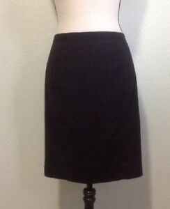 a6abf6e59 T Tahari Skirt Sz 6 Edgy Suit Pinstriped Black Pencil Lined Zippered ...