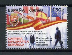 Spain-2019-MNH-Spanish-Diplomatic-Career-1v-Set-Diplomacy-Flags-Stamps