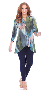 NEW Parsley & Sage Plus Fall Winter Artsy Coralie Tunic Blouse Top Shirt 1X