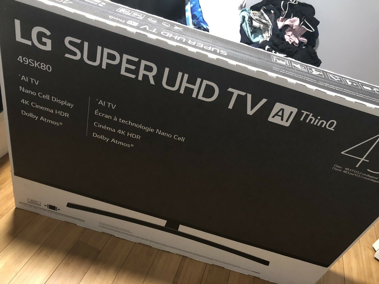 LG 49 Inch 4k HDR Smart AI ThinQ LED UHD TV. Buy it now for 650.00