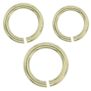 14K-Solid-White-Gold-Jump-Ring-Round-Open-3-5mm-5mm-Chain-End-1-Piece-USA