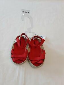 Old Navy Infant Girl Red Summer Sandals