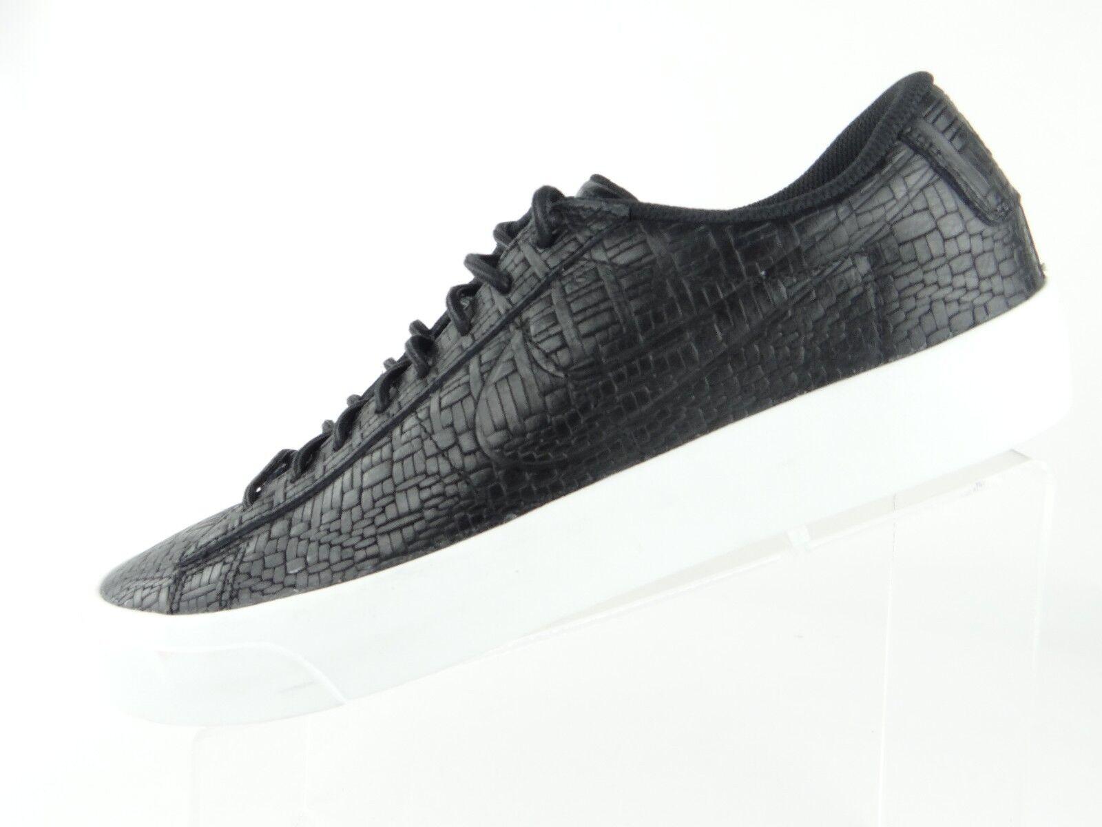 Nike Blazer Studio Low Men's Size 9.5 Black White Croc Athletic Shoes 880872-001