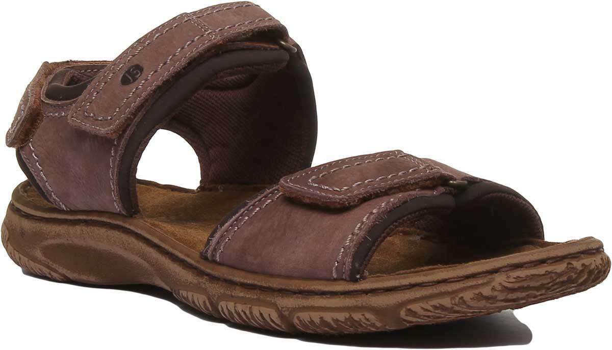 Josef Seibel Carlo 06 Mens Leather Matt Ankle Strap Sandal Brown UK Sizes 3 - 11