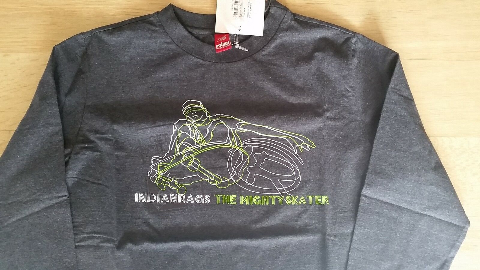T-Shirt indian Hadern the mighty skater - Größe Medien - grau neu