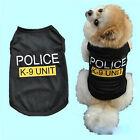 Pet Dog Cat Puppy Police&Security Vest T-Shirt Coat Pet Clothes Apparel Costumes