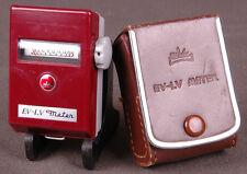 Vtg WALZ EV-LV Light Meter-Brown Leather Case-Made in Japan-Photography