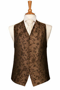 MENS-AND-PAGE-BOYS-DESIGNER-CHOCOLATE-COFFEE-MOCHA-WEDDING-DRESS-SUIT-WAISTCOAT