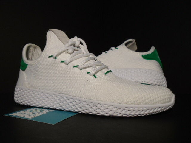 c28f6d4aa3650c adidas Pharrell Williams PW Tennis HU White Green Human Race Ba7828 Size  8.5 for sale online