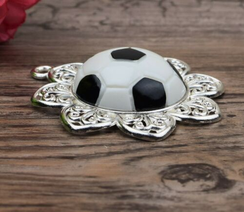 Personalised stunning pram charm in black for baby boys with football 3D charm