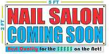 NAIL SALON COMING SOON Banner Sign NEW Larger Size Best Quality for the $$$
