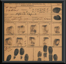 Al Capone Autograph & Booking Sheet Reprint On Original Period 1920s Paper P002