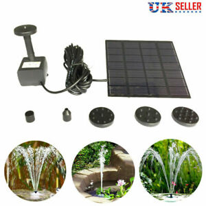 Solar Power Fountain Garden Pond Pool Water Feature Pump Kit Panel Submersible