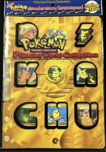 FACTORY SEALED 9 Card Promo Binder WOTC Pokemon Pikachu World Collection 2000