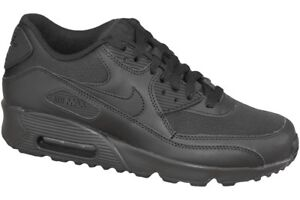 Nike Air Max 90 Mesh GS Shoes Black Trainers 833418-001 Classic ... 3a8826f40