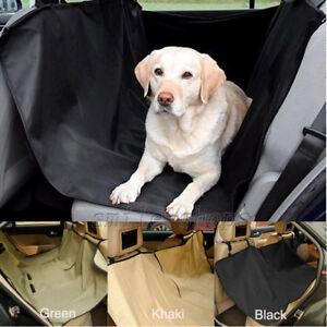 Waterproof Pet Dog Back Car Seat Cover Hammock Protector Mat Black Khaki Green