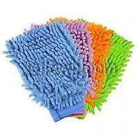 Set Of 2pcs Microfiber Cleaning Gloves Wash Mitt Hand Duster car bike cleaning