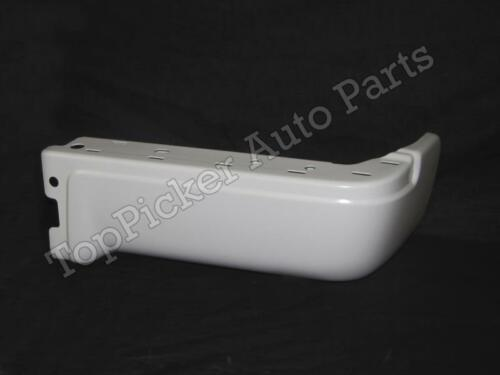 PAINTED WHITE REAR BUMPER END RH FOR 2009-2014 FORD F150 STYLESIDE W//O HOLE