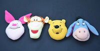 Winnie The Pooh Bear Tigger Eeyore & Piglet Heads 3 Inch 9cm Soft Toy Crafts