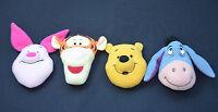 Winnie The Pooh Bear Tigger Eeyore & Piglet Heads 3 Inch 9cm Soft Toy Crafts