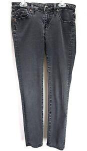 Adriano-Goldschmied-Women-039-s-Jeans-Gray-Sz-27R-Stevie-Ankle-Slim-Straight-Leg-I