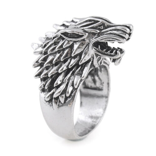 Classic Vintage Winter Is Coming Wolf Head Rings Men Fashion Jewelry Accessor~PL