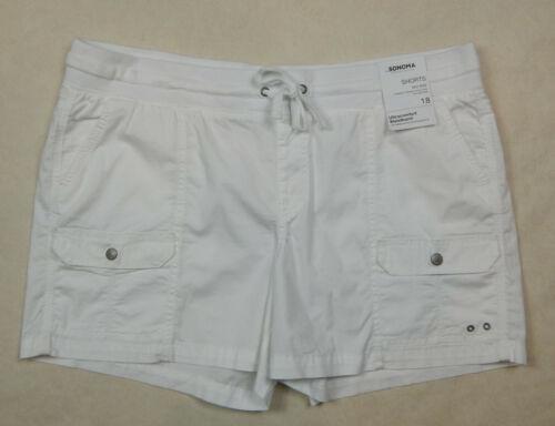 NEW Sonoma Womens Comfort White Khaki Olive Navy Grey Black Shorts 4 16 18