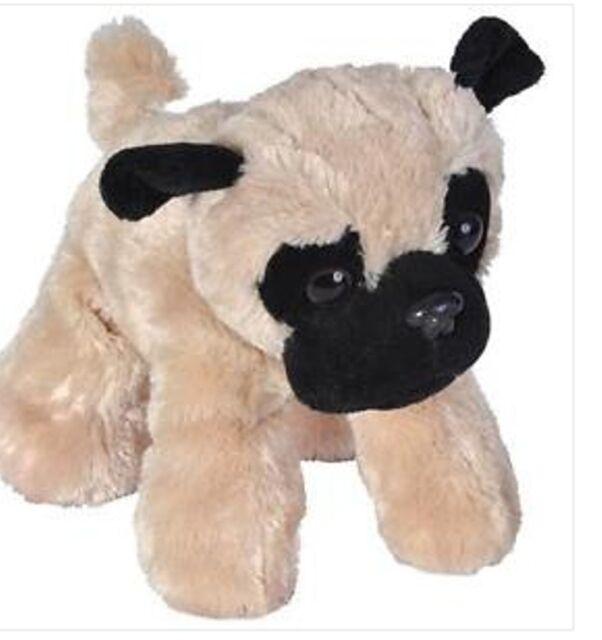 7 Inch Hug Ems Pug Dog Plush Stuffed Animal By Wild Republic Ebay