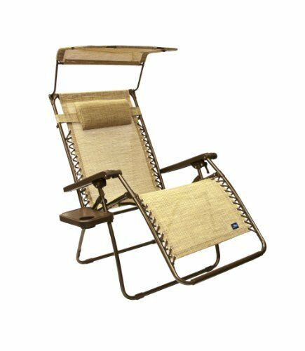 Bliss Gravity Free Canopy Recliner Reduces Stress /& Tensions w// Headrest Pillow