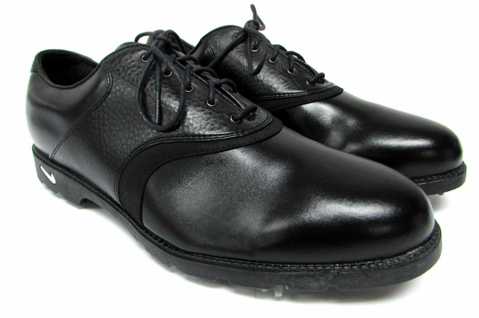 Nike Waverly Last Air Comfort Golf Soft Spike Black Leather Men's US 10 M shoes