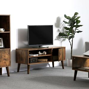Image Is Loading Mid Century Modern Tv Stand Furniture Living Room