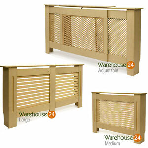 Radiator-Cover-Cabinet-Shelf-MDF-Unpainted-Diamond-or-Circle-Grill-MDF-Wood