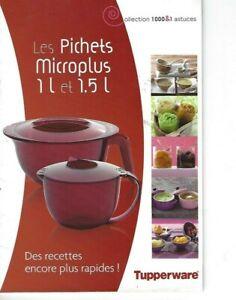TUPPERWARE Livret de recettes  Les pichets microplus 1 l et 1.5 l