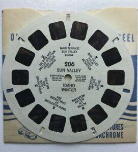 View Master Reel  206  Sun Valley  Winter  1950s