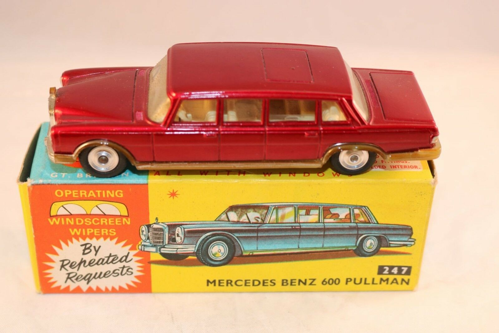 Corgi Toys 247 Mercedes Benz 600 Pullman very near mint in box all original