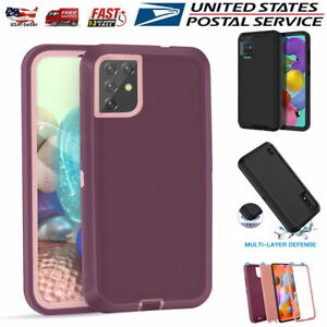 For Samsung Galaxy A51 A71 5G A01 Case Rugged Heavy Duty Shockproof Tough Cover