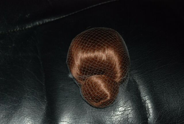 Larger Red Auburn Wig with Bun at Bottom for Madame Alexander Dolls