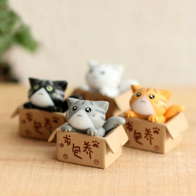 4 x Cheese Cat Cartoon Anime Figure Resin Kid Toys Christmas Gifts