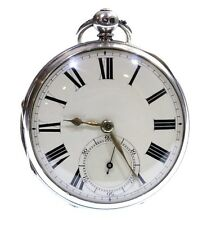 Large Antique Pocket Watch 1862 Silver Fusee Lever. Serviced