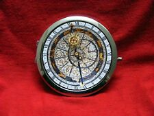 ASTRO CLOCK STEAMPUNK ZODIAC WHITE ROUND COMPACT MIRROR