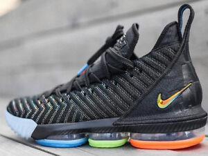 newest 8d66c 1a4a2 Details about Nike LeBron 16 XVI I Promise Size 15. AO2588-004. Black Multi  Color