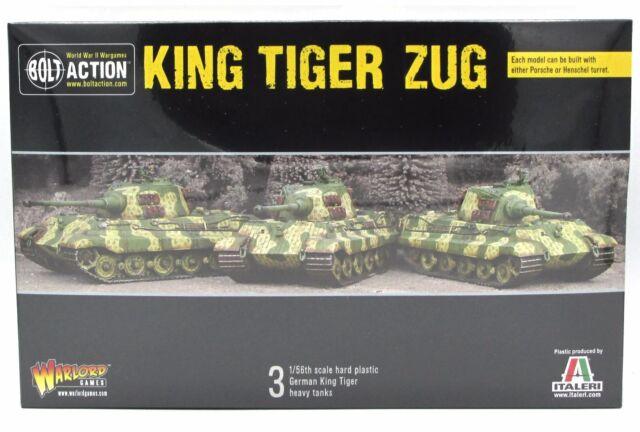 Bolt Action Ww2 German King Tiger Zug Platoon Warlord Games 28 Mm