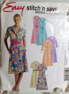 Fitted-A-line-Summer-Dress-Sewing-Pattern-Sleeveless-M5024-Size-10-McCalls-Easy