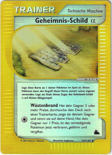 CCG 115 Pokemon Skyridge Reverse Holo Geheimnis Schild Alpha//Mystery Sh 133//144