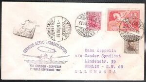 N694 Rare Postcard Zeppelin Uruguay x Germany - Berlin 1932 First Flight