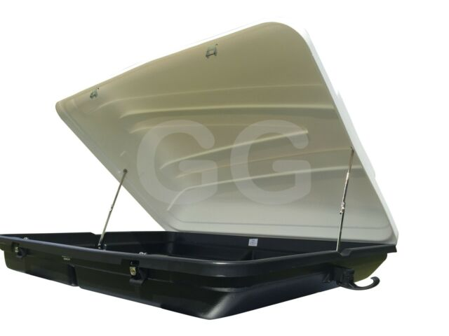 Car Top Luggage Roof Box Large 350 litre Lockable White