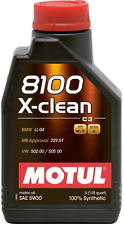 MOTUL OLIO 8100 X CLEAN  5W30 Lt SINTETICO ACEA C3 API SM CF MB BMW VW MOTORE DI