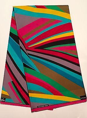 African  Fabric, Ankara - Rainbow 'Kaleidoscope,' YARD or WHOLESALE