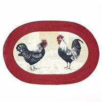 Achim Home Furnishings Braided Rug, 20-inch By 30-inch, Rooster , New, Free Ship on sale