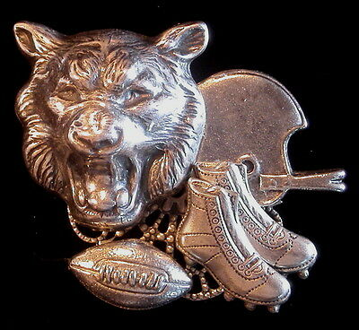 Wildcat Basketball Pin Oxidized Matte Silver Wild Cat Sport Team Mascot